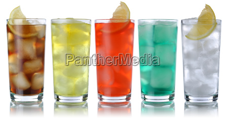 drikkevarer med koks og limonade