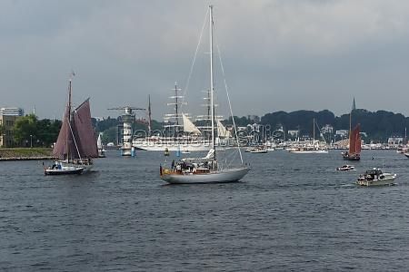 tall ship parade at the kieler