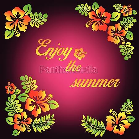 enjoy the summer pink illustration