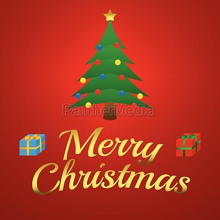 christmas illustration christmas tree with
