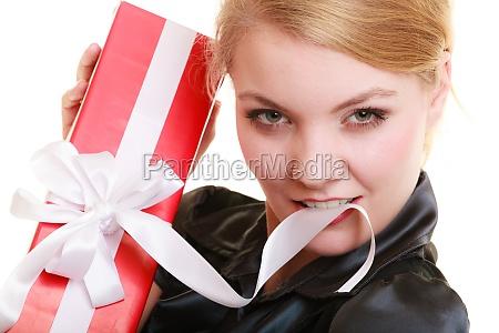 kvinde kasse aeske kiste juletid jul
