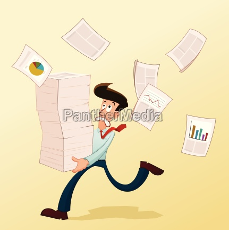 unge arbejdstager og dokumenter
