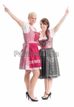 2 girls on the oktoberfest