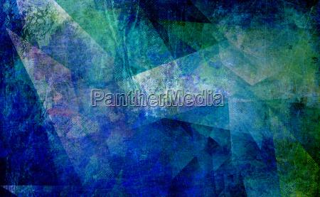 maleri polygonal abstrakt gammel