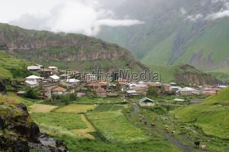 landsby i kaukasus georgien europa