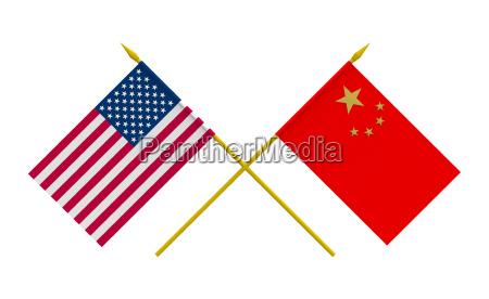 flag kina og usa