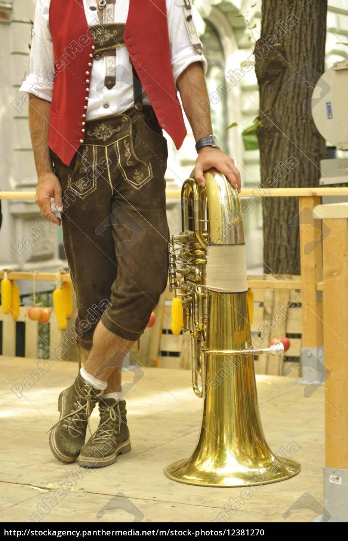 mand, mænd, læderbukser, læderbukser, tracht, mode, steiermark, brauch, brauchtum, folks, kultur - 12381270