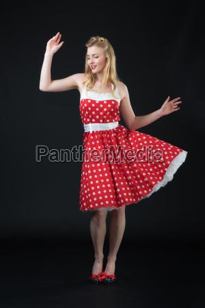 woman in rockabilly style