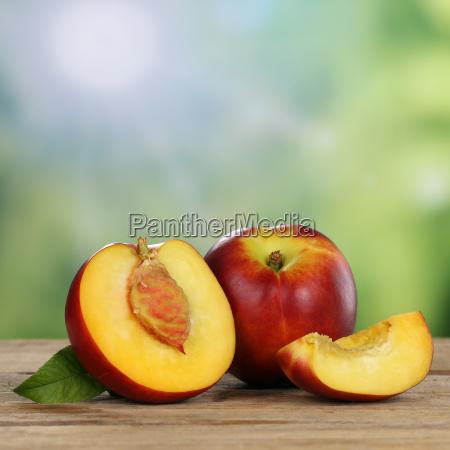 nektariner sommer frugter med kopi plads