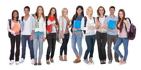 multi racial del grupo de estudiantes
