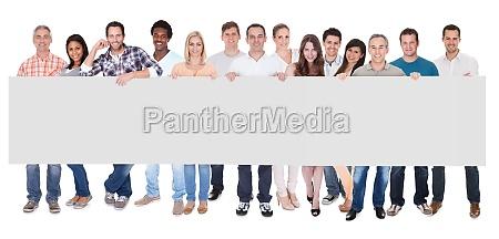 gruppe af forretningsfolk med et blankt
