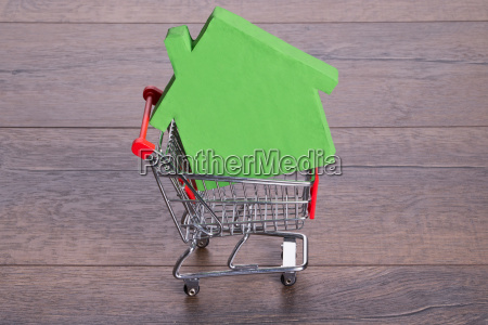 house, in, shopping, cart - 12541396