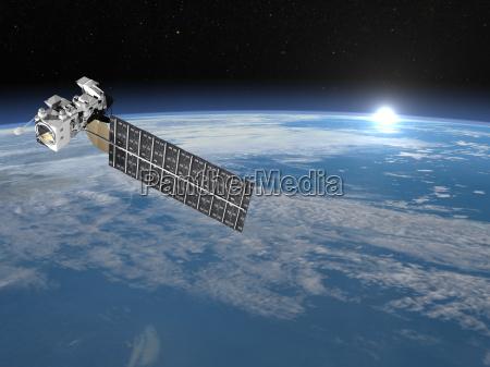 aqua satellit 3d render
