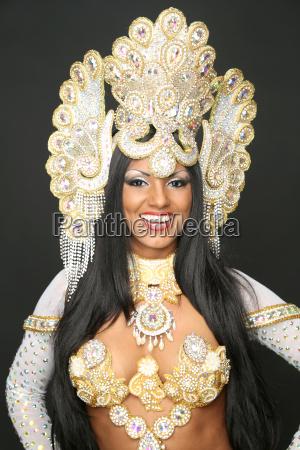 dancer in brazilian costume