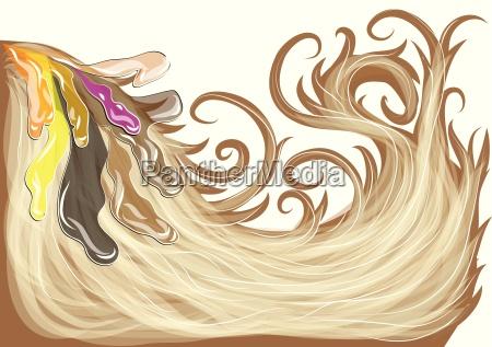 fritlagt brun illustration afsondret brune stralende
