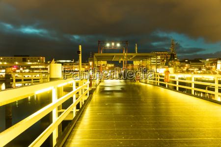kiel illuminated skyline