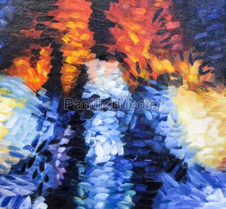 impressionisme abstrakt maleri struktur