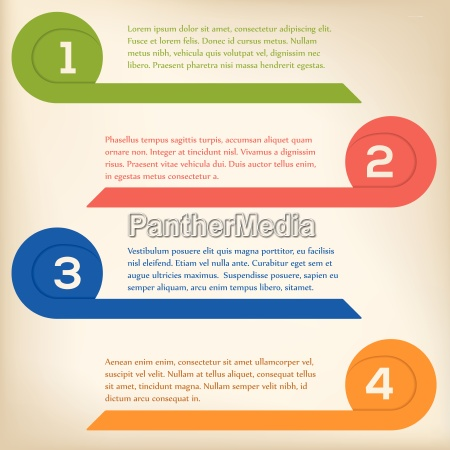 krollet pil infografik pa lys baggrund