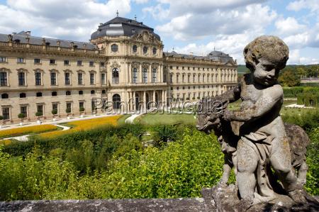 parco statua scultura baviera germania fontana