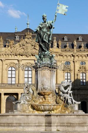 statua scultura baviera germania fontana patrimonio