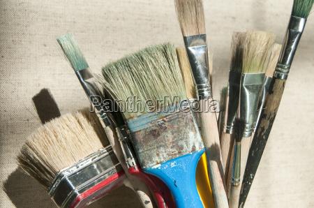 farve borste male anvendte bemale pensel