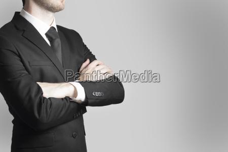 forretningsmand boss krydsede arme arbejde advarsel