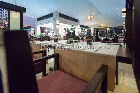 elegant interior af tomme asiatiske restaurant