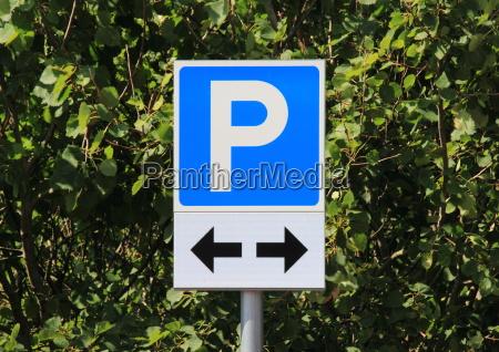 bla brev parkerende parkering tilmeld piktogram
