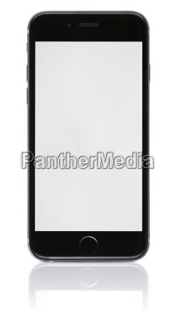 ny telefon med blank skaerm pa