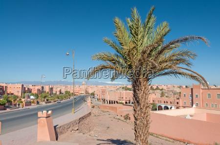 desert town ouarzazate in morocco africa
