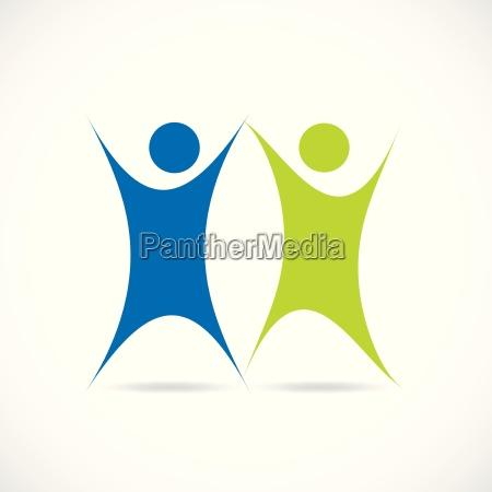 abstract teamwork design