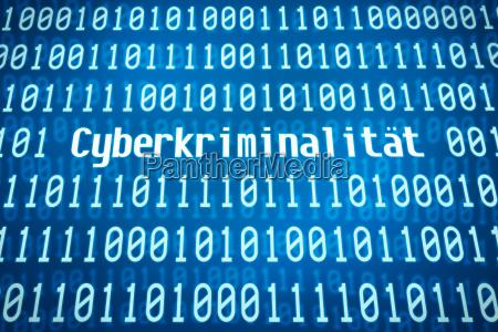 binaer kode med ordet cybercrime
