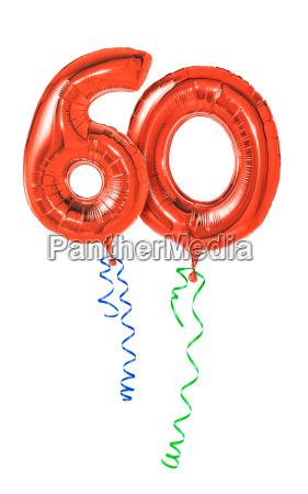 rode balloner med band number