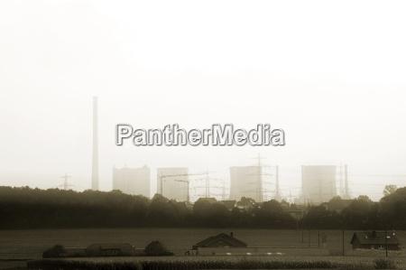industri kraftvaerk atomkraftvaerk skorsten