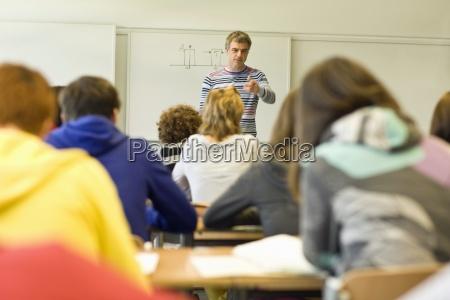 bagsiden af u200bu200bklassevaerelset fuld af studerende