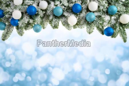 jule baggrund med grangrene