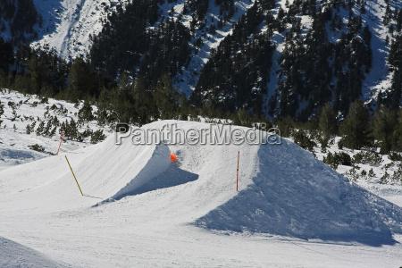 vinter alpine rampe ski skilob downhill