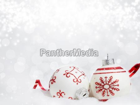julen baggrund med rode dekorationer