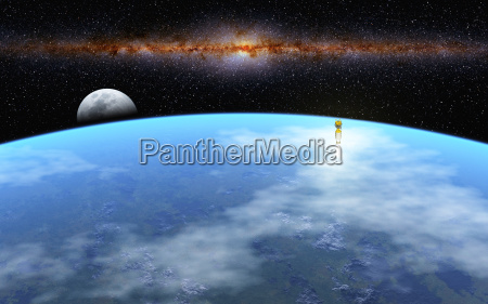 univers mane raket kloden jorden