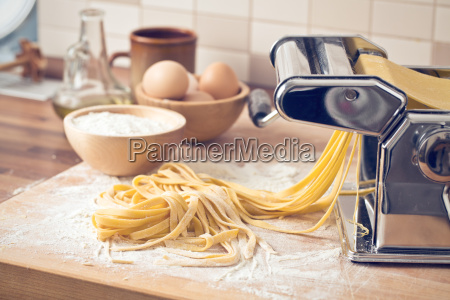 frisk pasta og pasta maskine