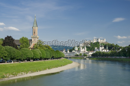salzburg city historic center og evangelical