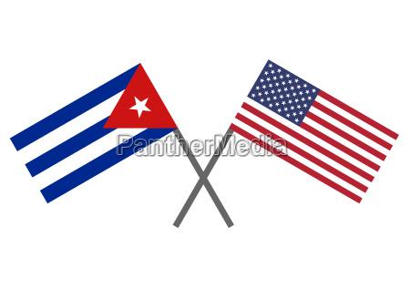 cubanske flag og usa