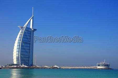 burj al arab with beach