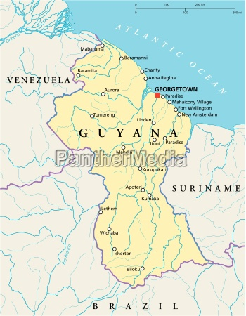 guyana politisk kort
