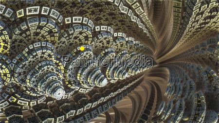 illustration abstrakt monster fraktal schnittmuster baggrund