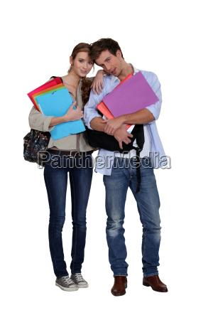 studerende med filer
