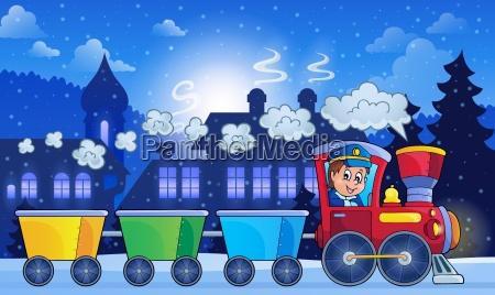 tog lokomotiv jernbane koretoj middel til