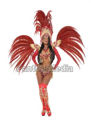 young brazilian samba dancer