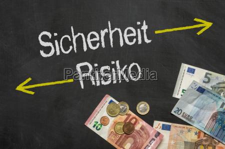 chart med penge sikkerhed og