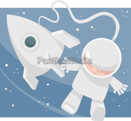 little spaceman cartoon illustration